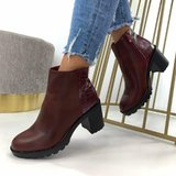 Botine Emmalin Bordo #B5678